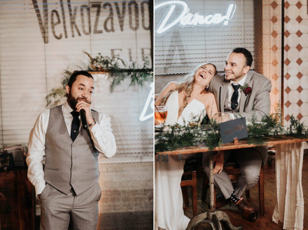 Kolo Klub Wedding Hoboken Nj Ny Nyc W Hotel Rustic String Lights Wooden Interior Dancing First